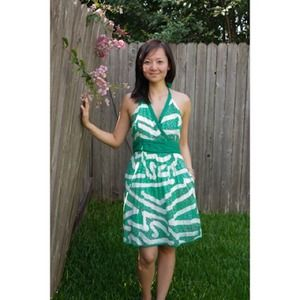 Dresses & Skirts - Green halter dress from Anthropologie