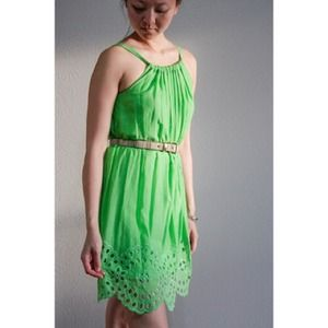 max studio Dresses & Skirts - SOLD! Max Azria lime green eyelet dress