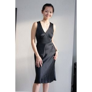 Banana Republic Dresses & Skirts - (Reserved) Black 100% silk slip dress.