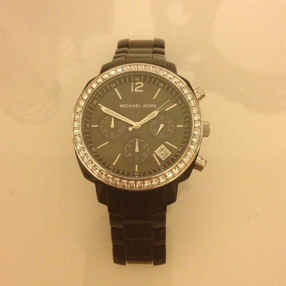 Michael Kors Jewelry - 💢reserved💢Black Michael Kors watch with crystals 2