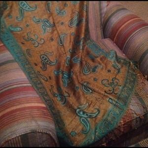 Accessories - Reversible pashmina 28 x 77 in. Brand new in pkg