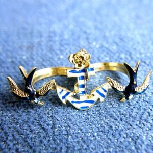 Jewelry - Anchors Away Double Ring