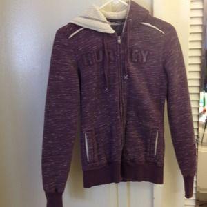Purple Hurley sweater
