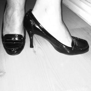 Shoes - Black Preppy Dress Heels