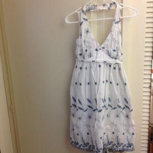 White floral dress!
