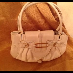 *RESERVED FOR jhayne**Jimmy Choo White Leather Bag