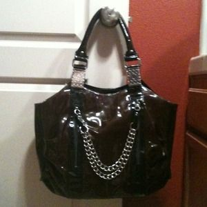 Handbags - NWT Brown/black Patent Leather Bag