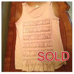 J. Crew Tops - ❌SOLD❌ @suzannemcginnis - J.Crew Ruffled Tank Top