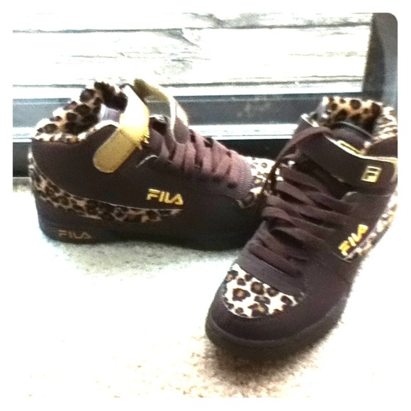 taniej gorące produkty ładne buty ❗On Hold ❗Brown Fila Leopard Print shoes