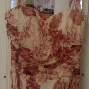 Silk Laundry Halter Dress