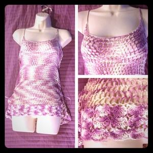 Hand crocheted tank top