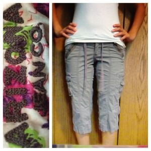 Arizona jeans  Pants - Gray and black capris bundle!