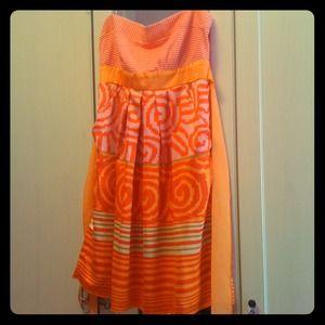 Dresses & Skirts - BNWOT Multicolor Strapless Summer Dress