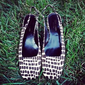 chic leopard print kate spade flats