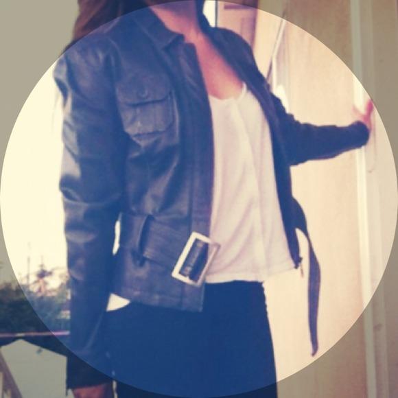 Puma Jackets & Blazers - Black Leather Moto jacket