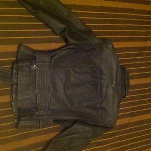 Puma Jackets & Coats - Black Leather Moto jacket