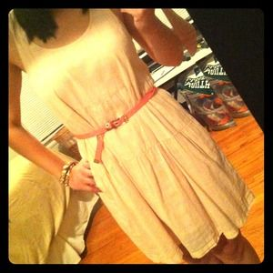 Light peachy nude summer dress