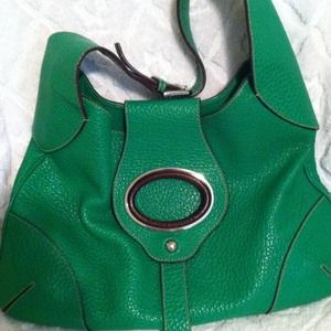 Authentic green dolce and gabbana purse