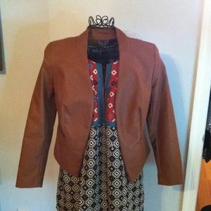 Jackets & Blazers - 👆NEW👆 super soft leather-like cognac/light brown