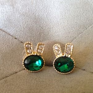 Anna Sui Jewelry - Sold;)marykatAnna Sui emerald green&clear crystal