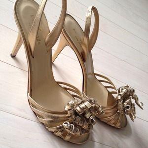 kate spade Shoes - Kate Spade Gold Ribbon Sandal