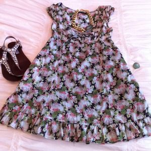 Zara Dresses & Skirts - ❌SOLD❌ ZARA Floral Print Tie Front Dress