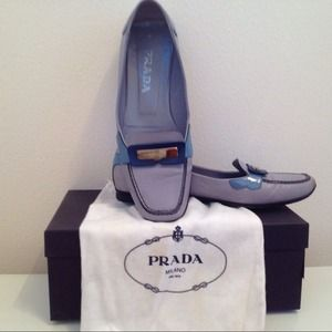 Prada Shoes - **RESERVED for thenewby ** PRADA Blue/Navy Loafers