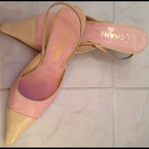 CHANEL Shoes - CHANEL Pink/Tan Slingbacks
