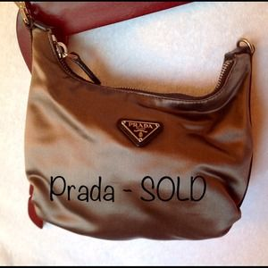 Prada Handbags - 🔴SOLD🔴PRADA Grey Satin Mini Evening Bag