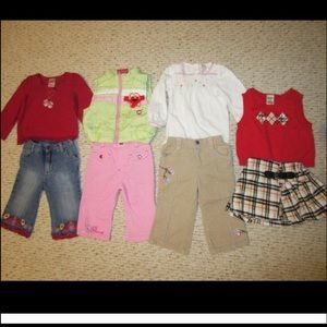 25 Pieces Toddler Winter/Fall Dresses, Tops, Pants