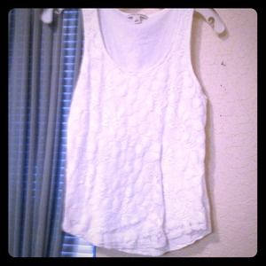 BANANA REPUBLIC lace shell top. Worn once.