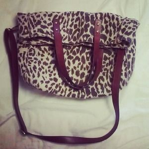Handbags - Leopard print cross body purse