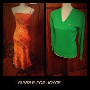 Charlotte Russe Dresses & Skirts - BUNDLE FOR JOYCE Orange Sundress & Lacoste Sweater