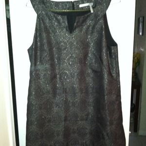 Black w silver metallic threads cocktail dress