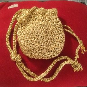 Small gold bag 6.5x5.5 in