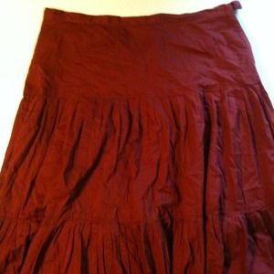 J. Crew rust red skirt