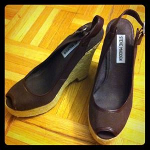 Steve Madden Shoes - Steve Madden Brown Espadrilles