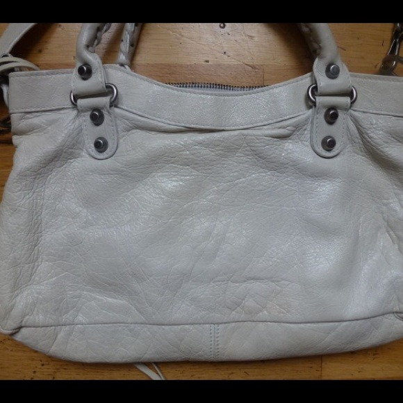 Balenciaga Bags - Balenciaga Small White City Bag