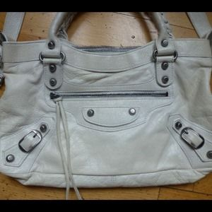 Balenciaga Bags - Balenciaga Small White City Bag 3