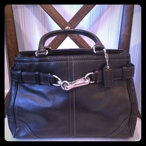 Coach F11199 Hampton Leather Carryall