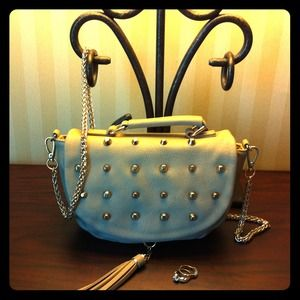 Clutches & Wallets - Studded with Tassel Crossbody
