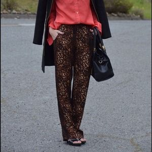 Forever 21 Pants - Leopard print silky pants