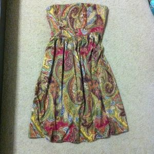 Charlotte Russe Dresses & Skirts - 🎈SALE!🎈Pleated Paisley Tube Dress