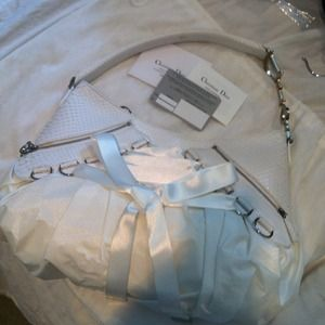 Dior Handbags - Authentic Dior White Python Ballerina bag