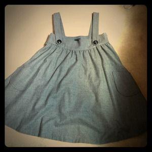Grey wool schoolgirl like dress