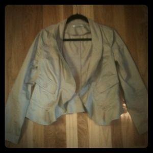 FURTHER REDUCED DKNYC khaki blazer. A steal!!!