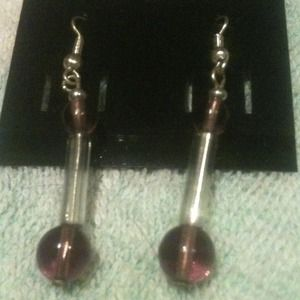 Jewelry - Purple and silver dangles