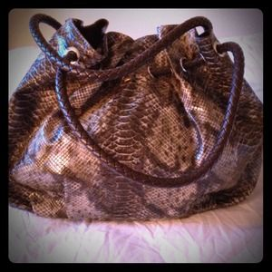 Snakeskin hobo Leather bag