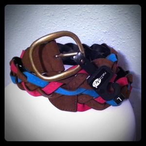 Rue 21 Accessories - New Hot Pink, Brown, & Aqua Braided Belt