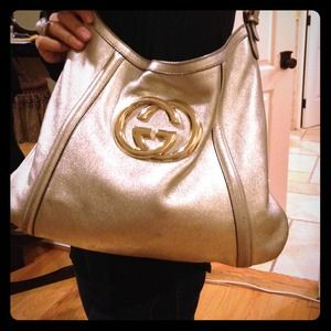 Reduced Auth Gucci Britt bag hobo Leather